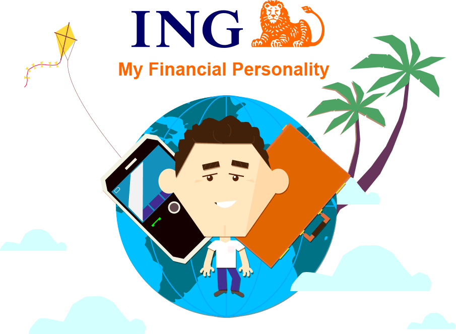 ING Financial Personality App Illustration